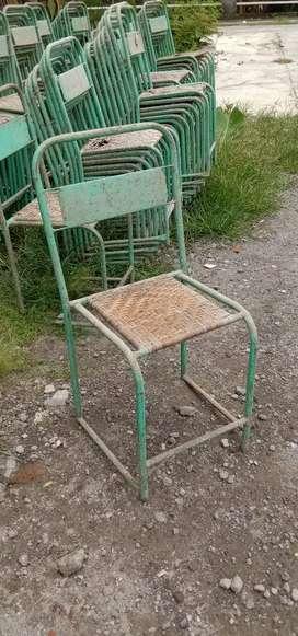 Kursi besi bekas,kursi seng