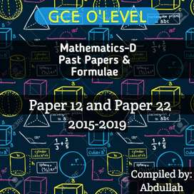 GCE O'LEVEL MATHS (4024) UNSOLVED PAST PAPERS