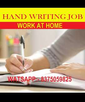 work from home weekly payment handwriting work
