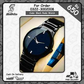 High Quality Black Watch For Men