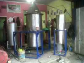 Mesin Destilasi boiler Kap 200kg