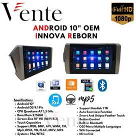 Headunit Android 10inch OEM All New Innova Reborn Include Pasang