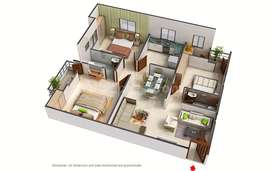 3 BHK(1300 sq ft) Corner Flat with Puja Room for Sale in Patna Chipura