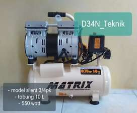 kompresor compressor 0,75hp tipe silent, suara halus tanpa oli