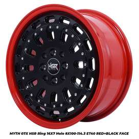 motif MYTH07X HSR R16X7 H8X100-114,3 ET40 RED/BK FACE