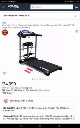 Threadmill with massager and ab cruncher