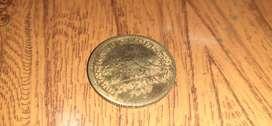 A nickel coin of half rupee ( adha rupya ) of year 1947