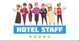 हॉटेल स्टाफ चाहिये. वेटर, क्लिनर, कूक, हेल्पर
