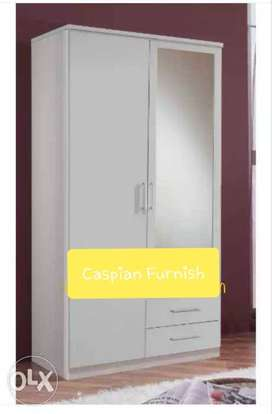 327 New good quality white wardrobe with mirror
