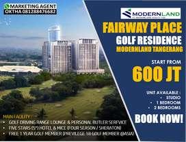 Dijual Apartment Fairway Place Golf Recidance Type Studio Lt.18