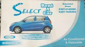 Mehran is available on rent ' Per kilo miter 16 rupees'booking 100