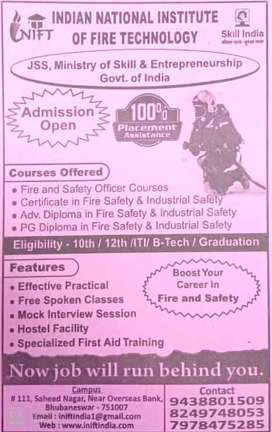 New Bright Carrier of Fire & Safety engineering with quick placement