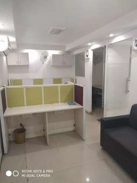 Fully furnished office 2 cabin, 7 seats for Rent in sector 4 Noida.