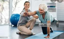 Physiotherapy and pain relief massage