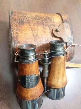 Antique Victorian Marine Brass Leather Binocular Sailor Instrument