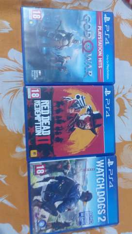 Ps4 red dead redemption 2, God of war and watch dogs 2