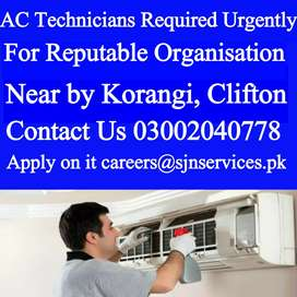 AC & Cassete Type Chiller Technician Required