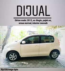 Daihatsu Sirion Putih 2013 AT Asli AD Tangan Pertama