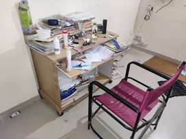 Computer cum study table and chair
