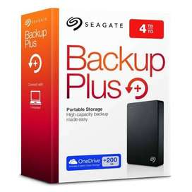seagate portable hard drive 4tb Backup plus