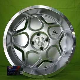 Ready stok Baru velg HSR ring 16 Myth04 silver buat calya vios