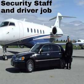 Hiring in airport driver and security job