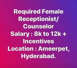 Required female Front office executive