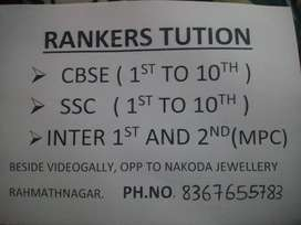 Rankers tuition from 1st to 10th all subjects