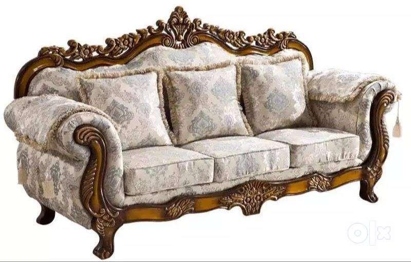 brand new 3+2+2 teak wood sofa set