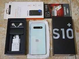 Galaxy S10 Plus 128GB Prism White SEIN msh Garansi Fullset Ori Mulus