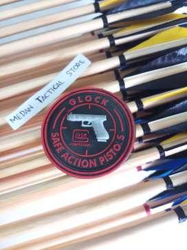 Emblem Patch Rubber Glock Perfection (MEDAN TACTICAL)