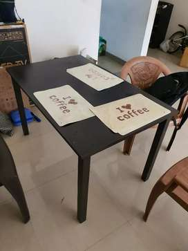 Dining table plywood no chairs