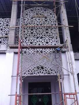 Proyek Borongan Pembuatan dan Pemasangan Ornamen Krawangan GRC