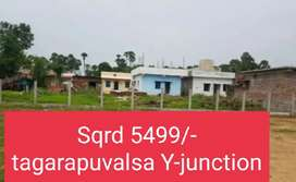 SQRD 5499/- TAGARAPUVALSA Y-JUNCTION NEAR RESIDENTIAL PLOTS FOR SALE