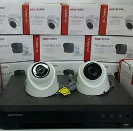 Paket lengkap 2 kamera cctv Hikvision 5 Mp Gratis pasang terima beres.