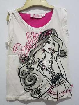 Kaos anak Barbie uk 4th