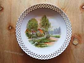 Piring keramik/porcelain Eropa kuno, antik. schumann Made in Germany