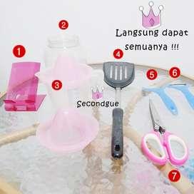 Set perlengkapan masak perlengkapan dapur alat masak barang bekas