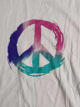 Peace Symbol White Original Bewakoof T-Shirt
