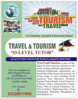 CIE O-LEVEL TRAVEL & TOURISM TEACHER