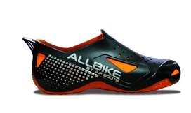 Sepatu Motor Biker ALL BIKE Orange Karet ALLBIKE Hitam Orange AP ID63