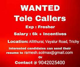 Wanted Tele callers