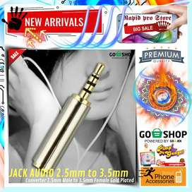 Jack Audio Converter 2.5mm Male to 3.5mm Female