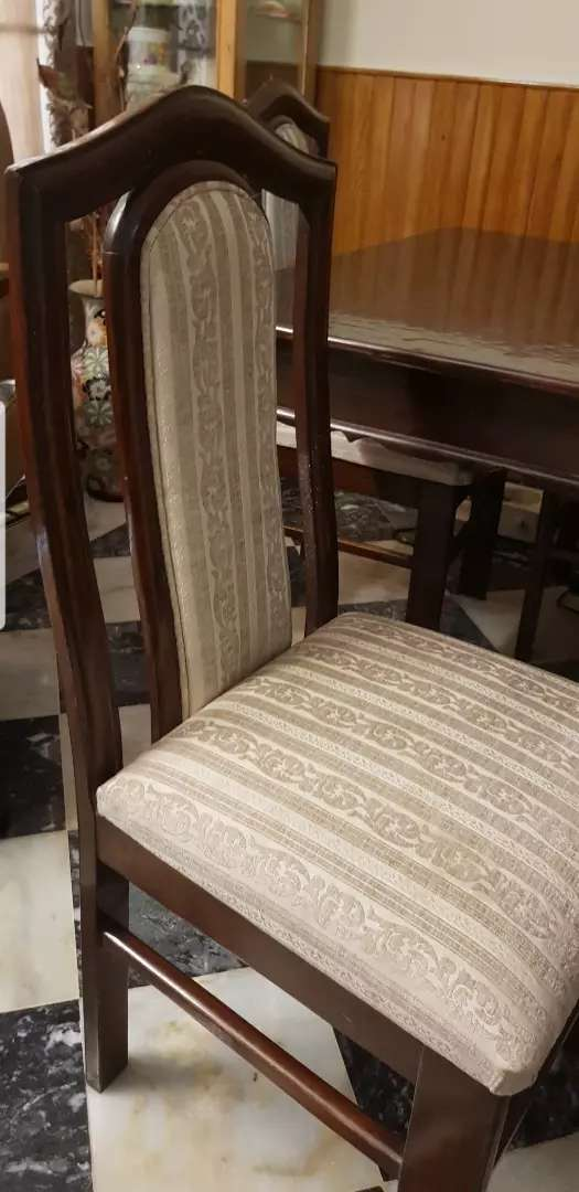 Pure wooden dining table with 6 chairs 0