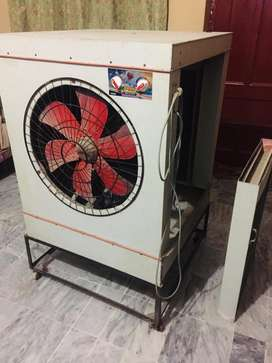 Lahori Air Cooler with cooling pads and iron stand
