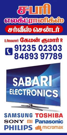 SABARI ELCTRONOCS    ALL,LCD,LED,TV,AUDIO SYSTEM , SALES AND SERVICE