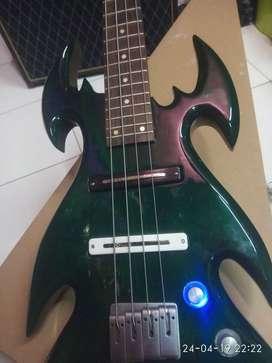 Bass Ibanez metal cadas Switch lampu LED beautifull green