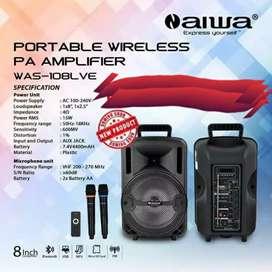 AIWA Speaker Portable Wireless/Bluetooth (WAS-108LVE)