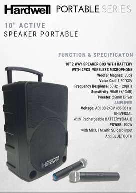 Speaker Portable Amplifier Wireless Hardwell 10 Inch Bluetooth - USB