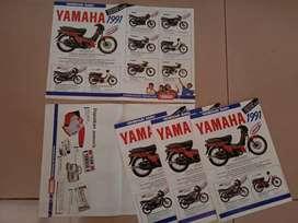 Brosur yamaha 1991 (champ,rzr,alfa,rxz,rx king,rx s,yt)& alfa sonauto